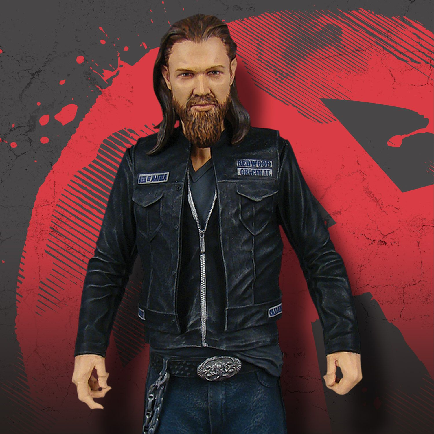 sons of anarchy opie winston 6quot figure � mezco toyz