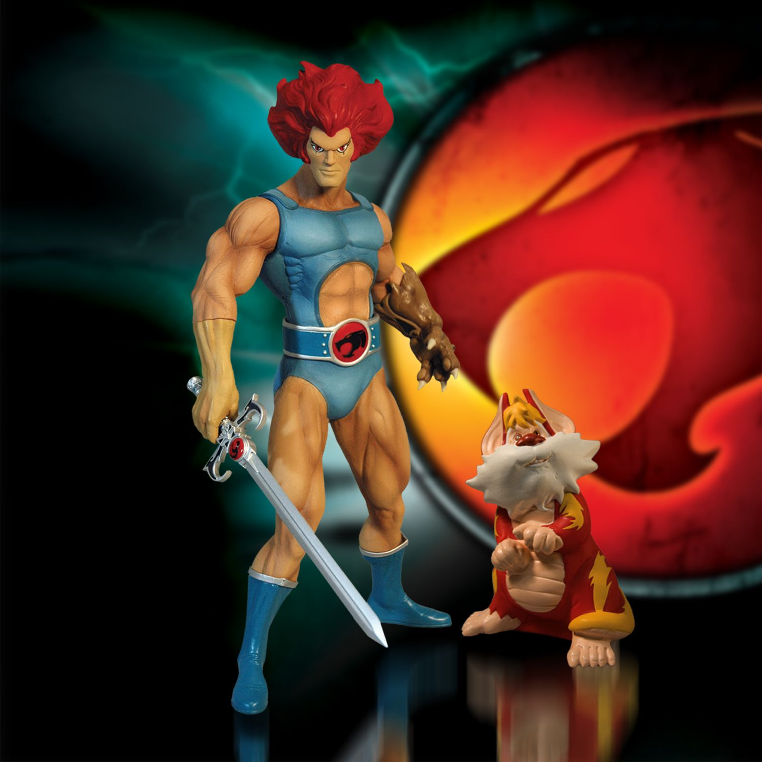 thundercats mega scale lion o with snarf mezco toyz. Black Bedroom Furniture Sets. Home Design Ideas