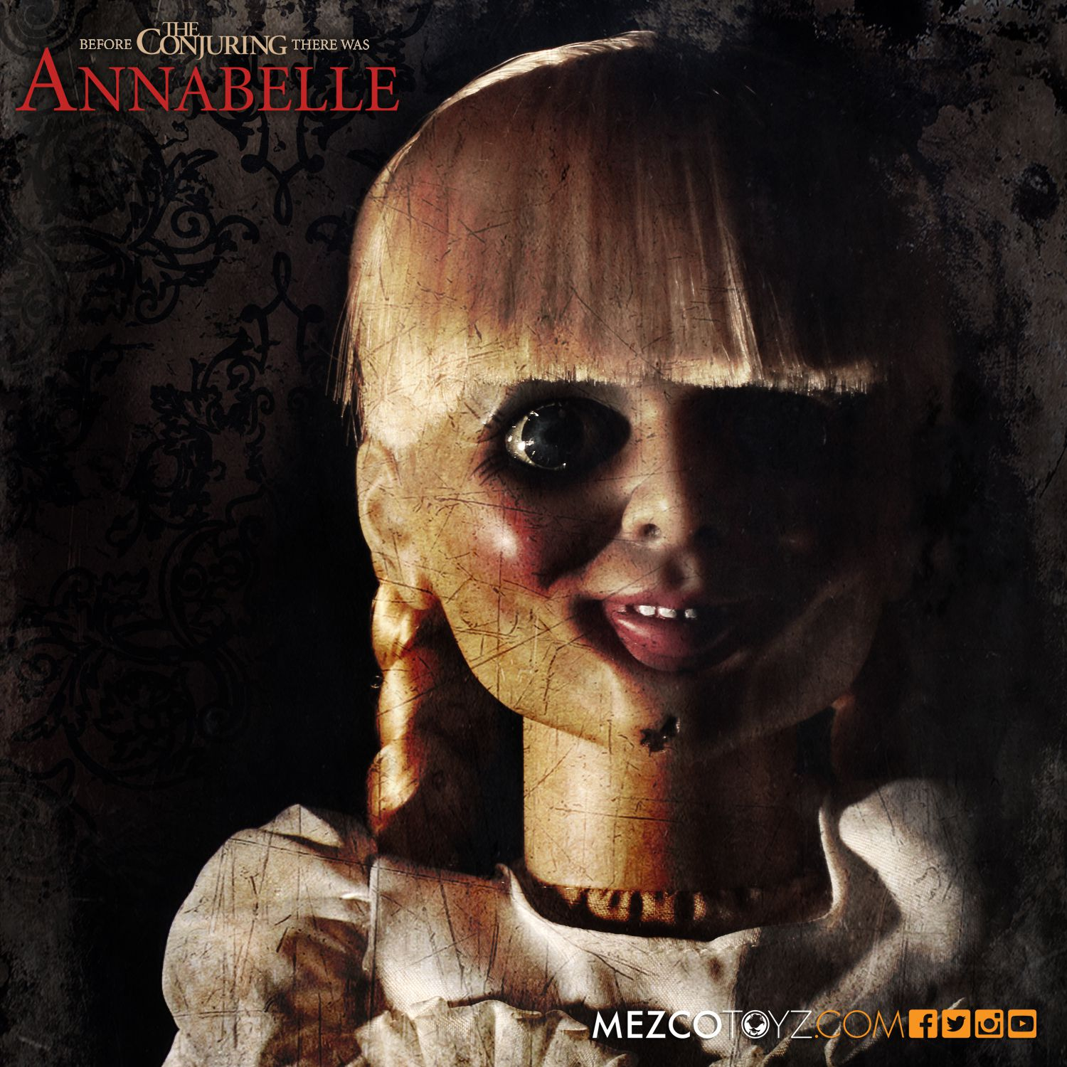 The Conjuring Annabelle Scaled Prop Replica Mezco Toyz