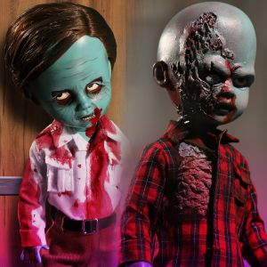 Living Dead Dolls Dawn of the Dead: Flyboy & Plaid Shirt Zombie