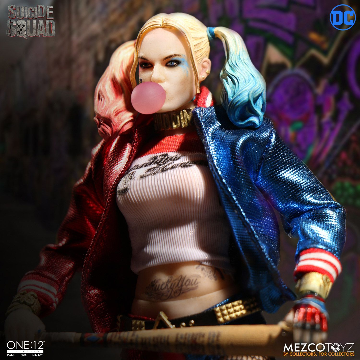 one 12 collective suicide squad harley quinn mezco toyz. Black Bedroom Furniture Sets. Home Design Ideas