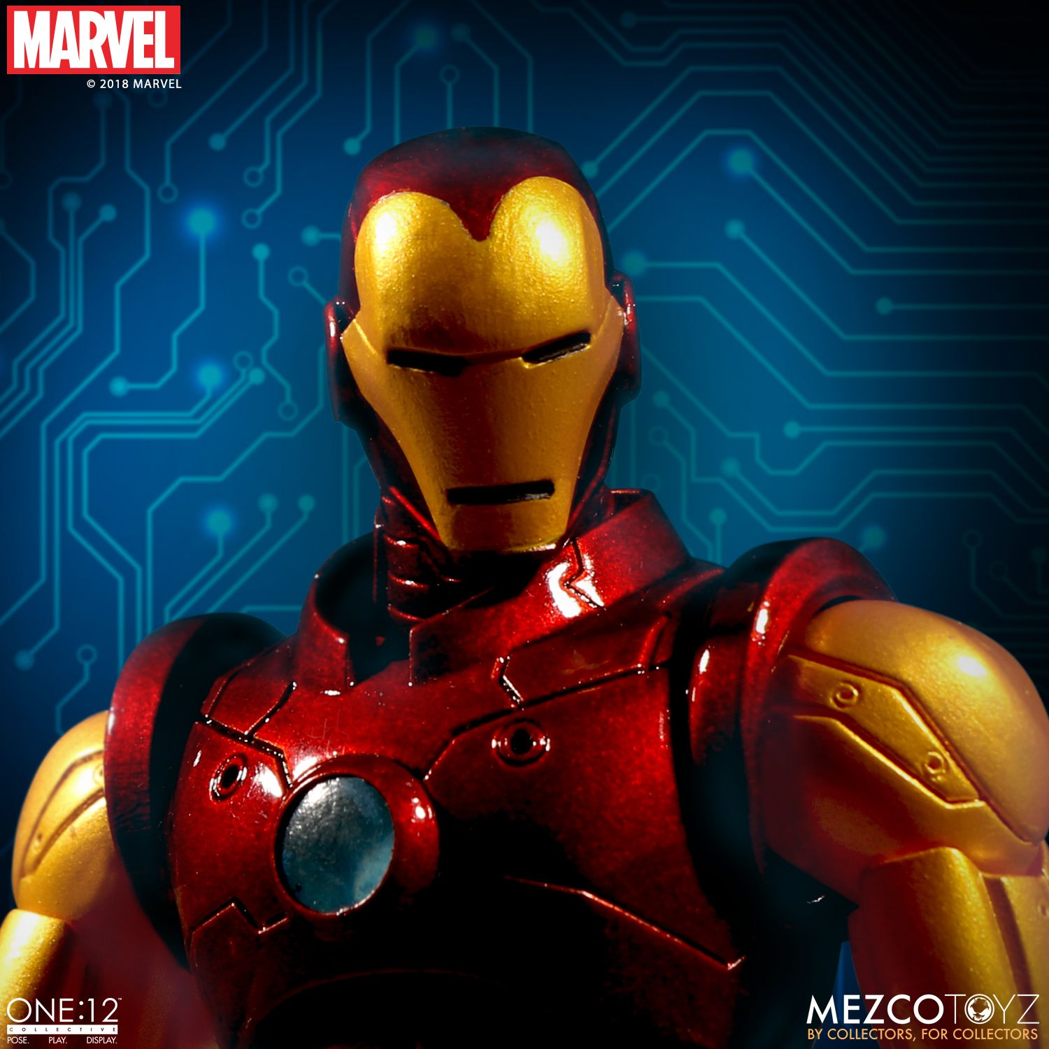 one 12 collective iron man mezco toyz. Black Bedroom Furniture Sets. Home Design Ideas
