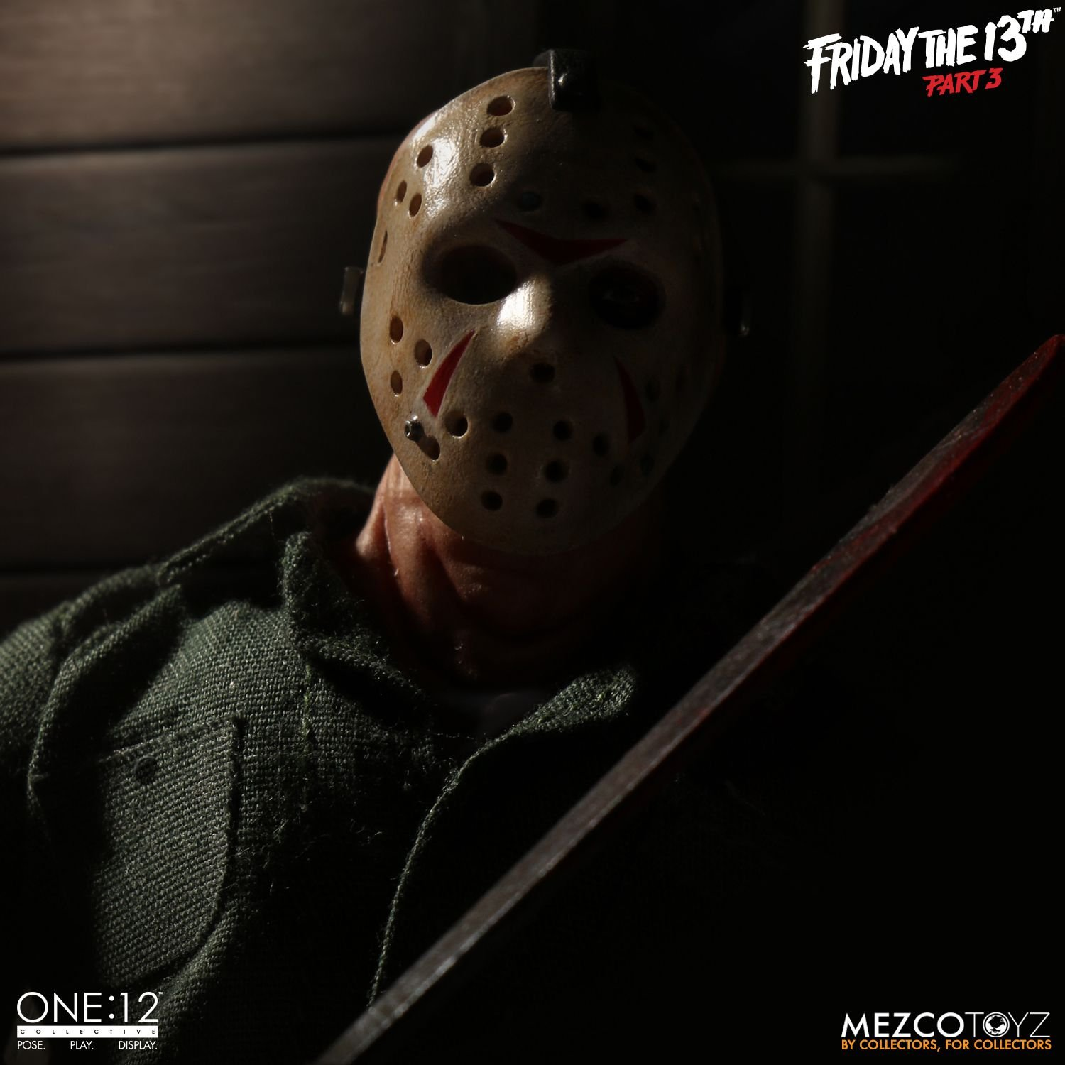 """One:12 Collectif Jason Voorhees 6/"""" Action Figure MEZCO Friday the 13th Part 3!"""