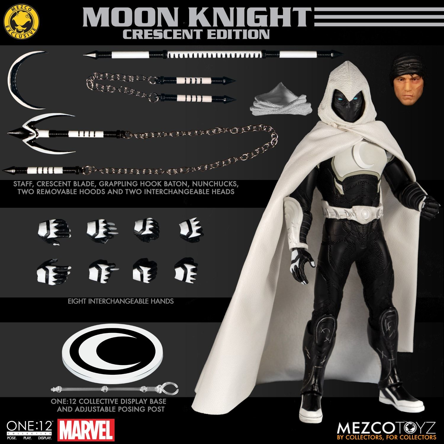 Mezco One:12 Moon Knight SDCC Exclusive Action Figure