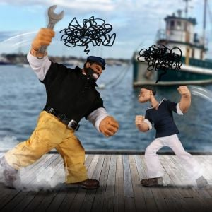 One:12 Collective Popeye & Bluto: Stormy Seas Ahead Deluxe Box Set