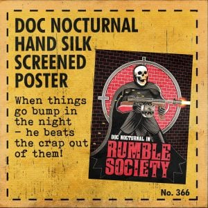 Mezco Toyz Rumble Society: Doc Nocturnal - Hand Silk Screened Poster