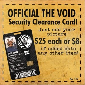 Mezco Toyz The Void Official Security Clearance Card