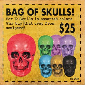 Mezco Toyz Bag of Skulls