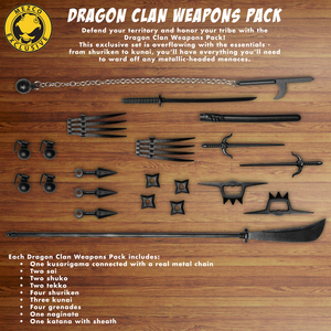 One:12 Collective Dragon Clan Weapons Pack