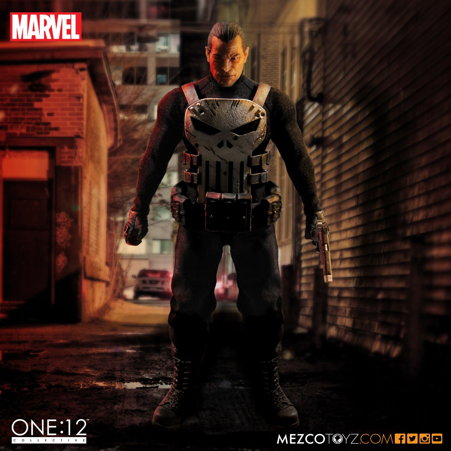 One 12 Collective Marvel S The Punisher Action Figure Mezco Toyz