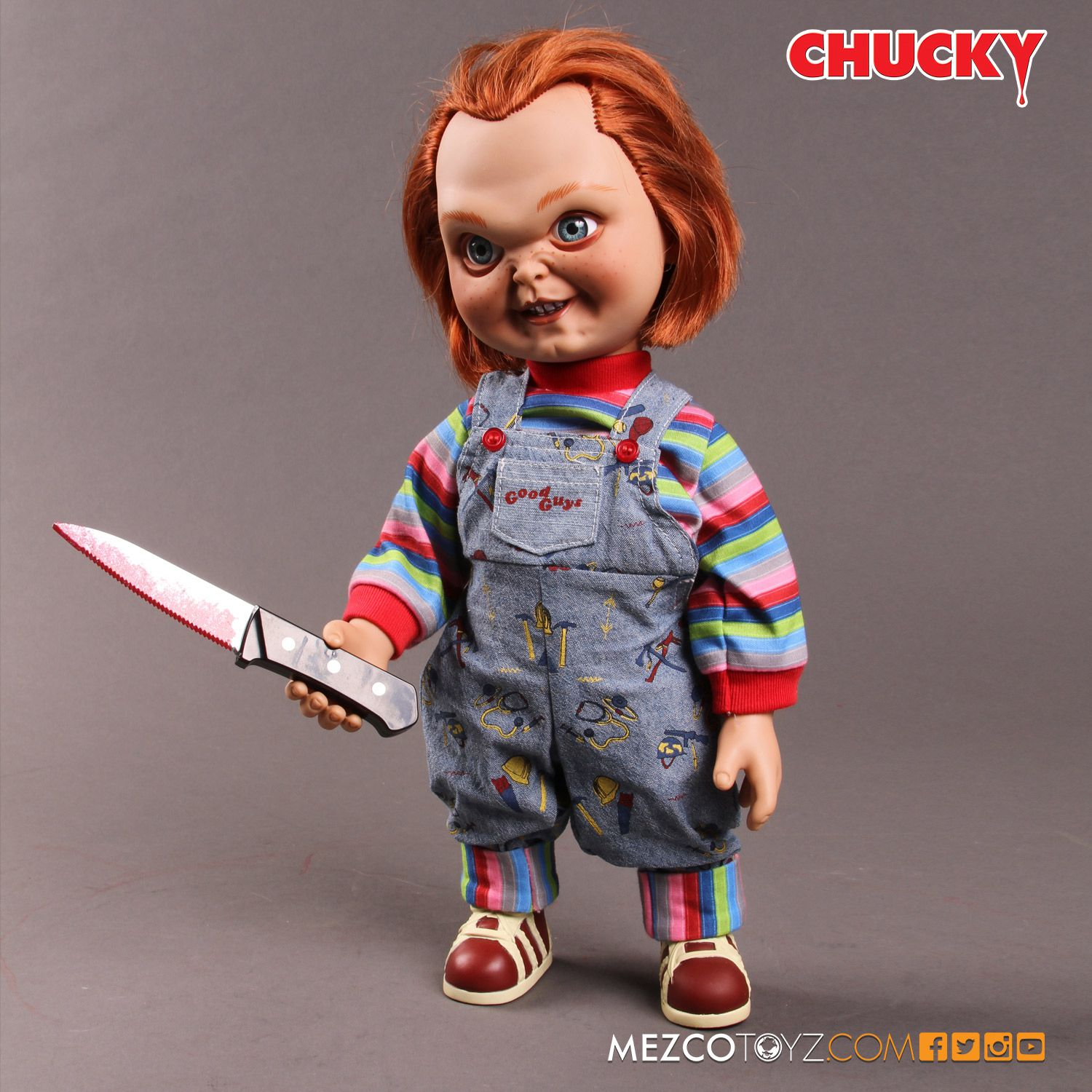 "CHILD/'S PLAY TALKING CHUCKY 15/"" SNEERING MEGA DOLL Sound Bride Mezco IN STOCK"