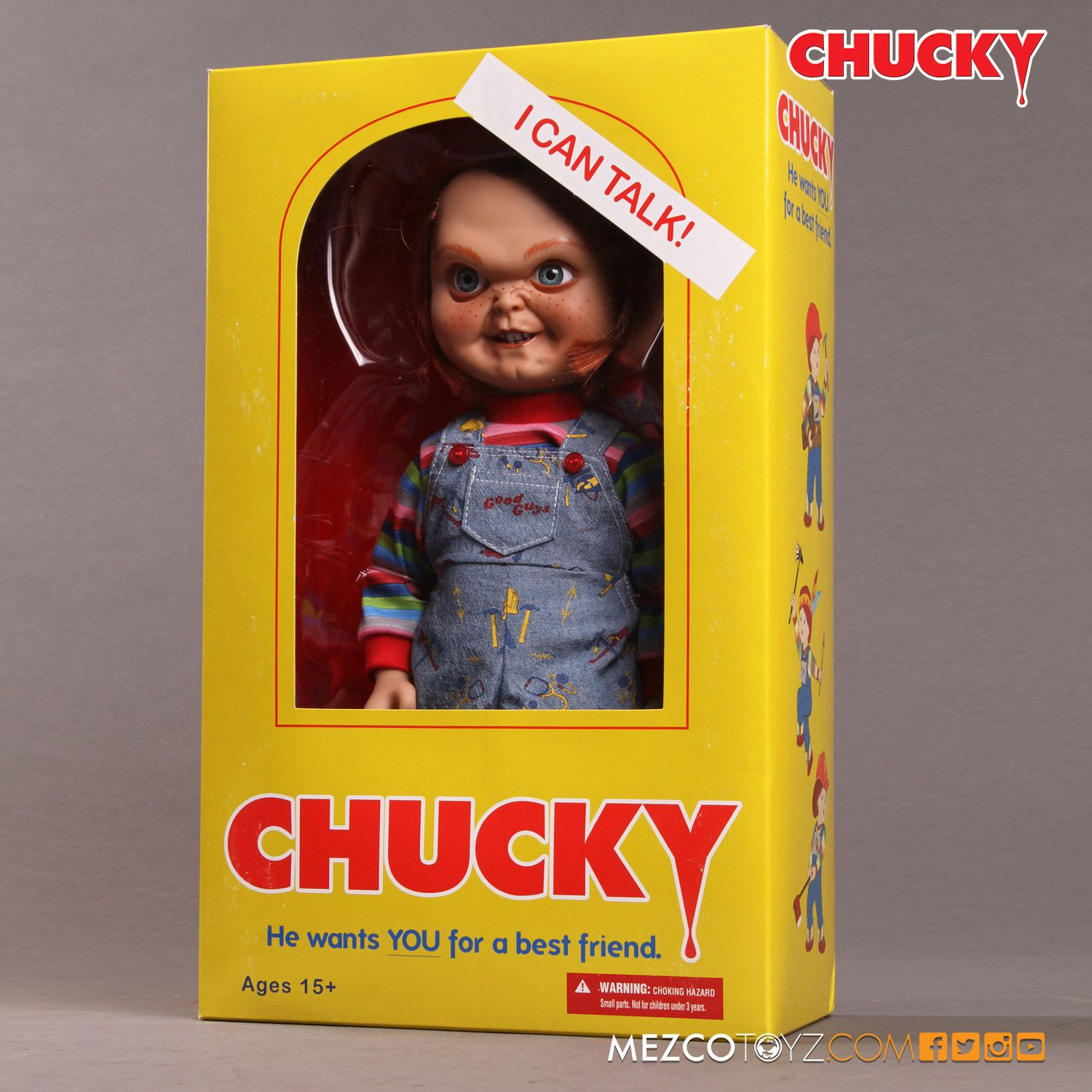 Toys R Us Chucky : Child s play talking sneering chucky doll mezco toyz