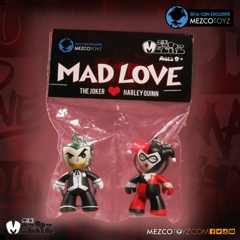 Mez-itz Mad Love Joker & Harley Quinn Con Exclusive by Mezco Toyz
