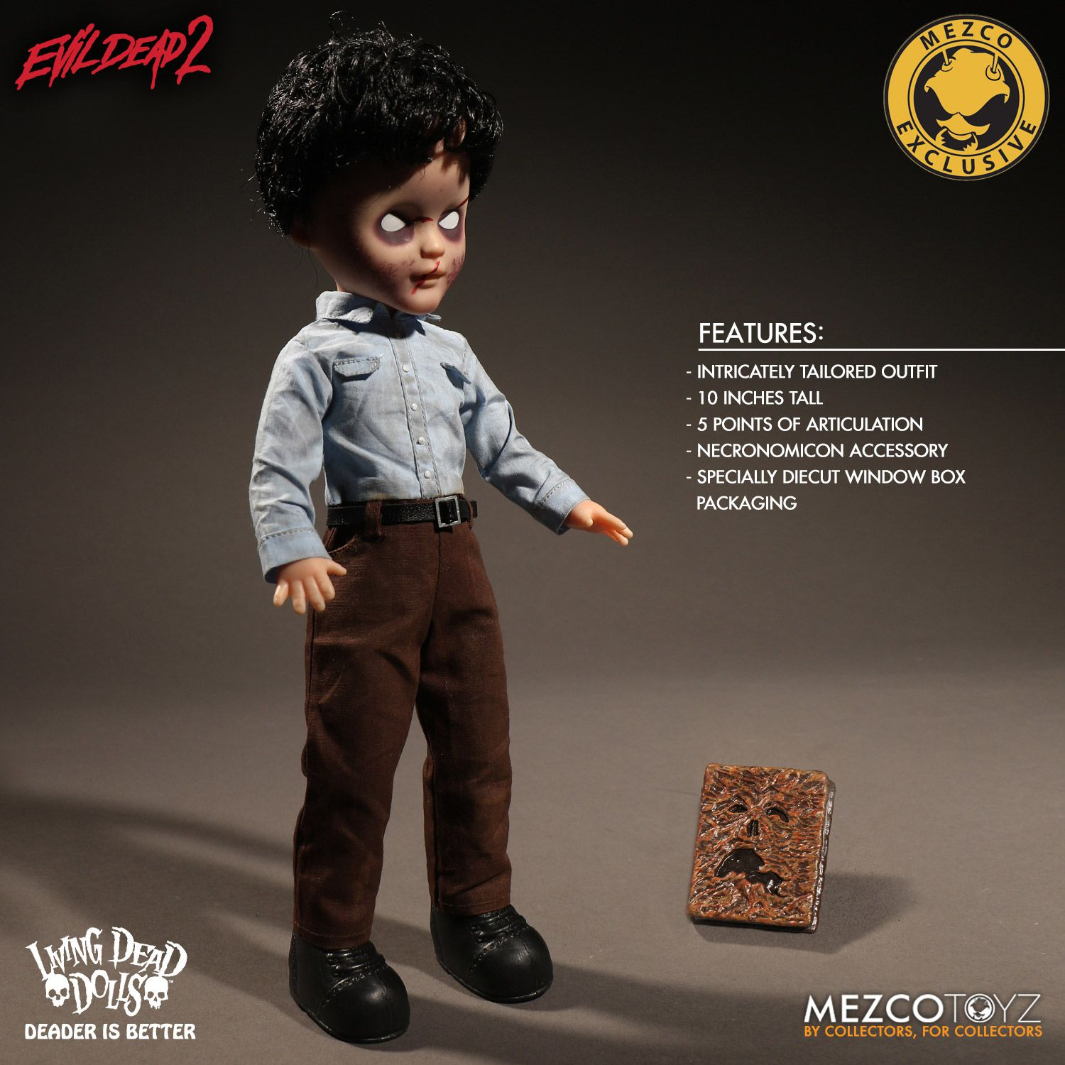 living dead dolls evil dead 2 deadite ash doll by mezco toyz