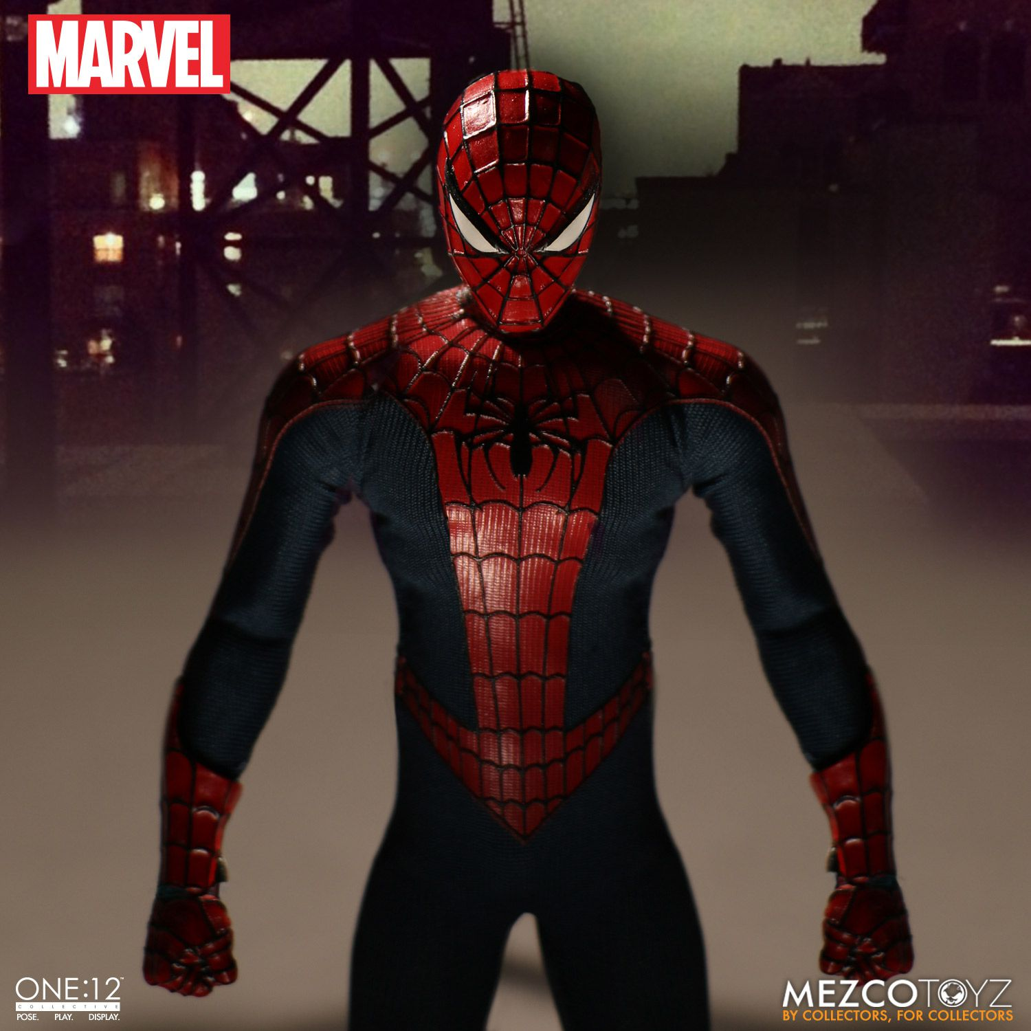 one 12 collective marvel spider man mezco toyz. Black Bedroom Furniture Sets. Home Design Ideas