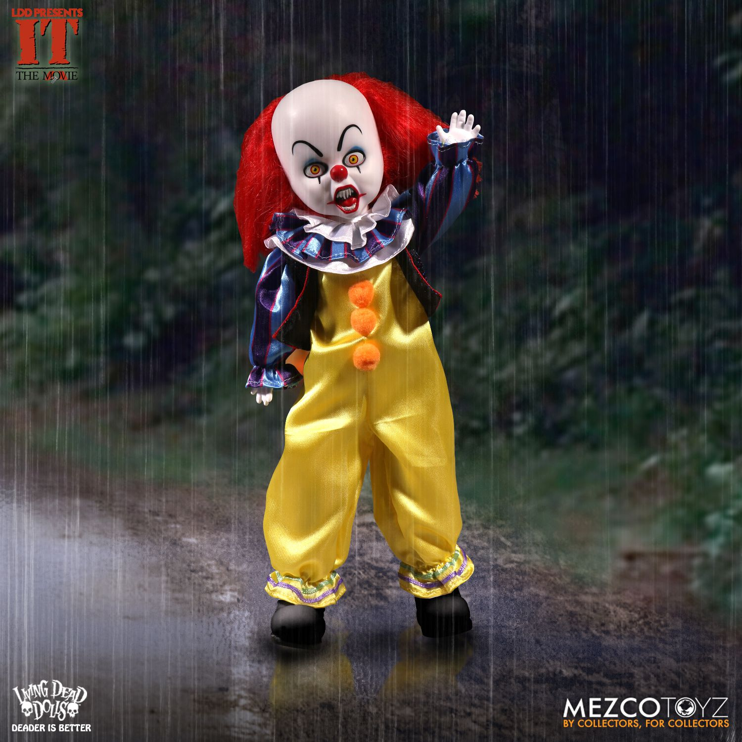 living dead dolls it 1990 pennywise mezco toyz