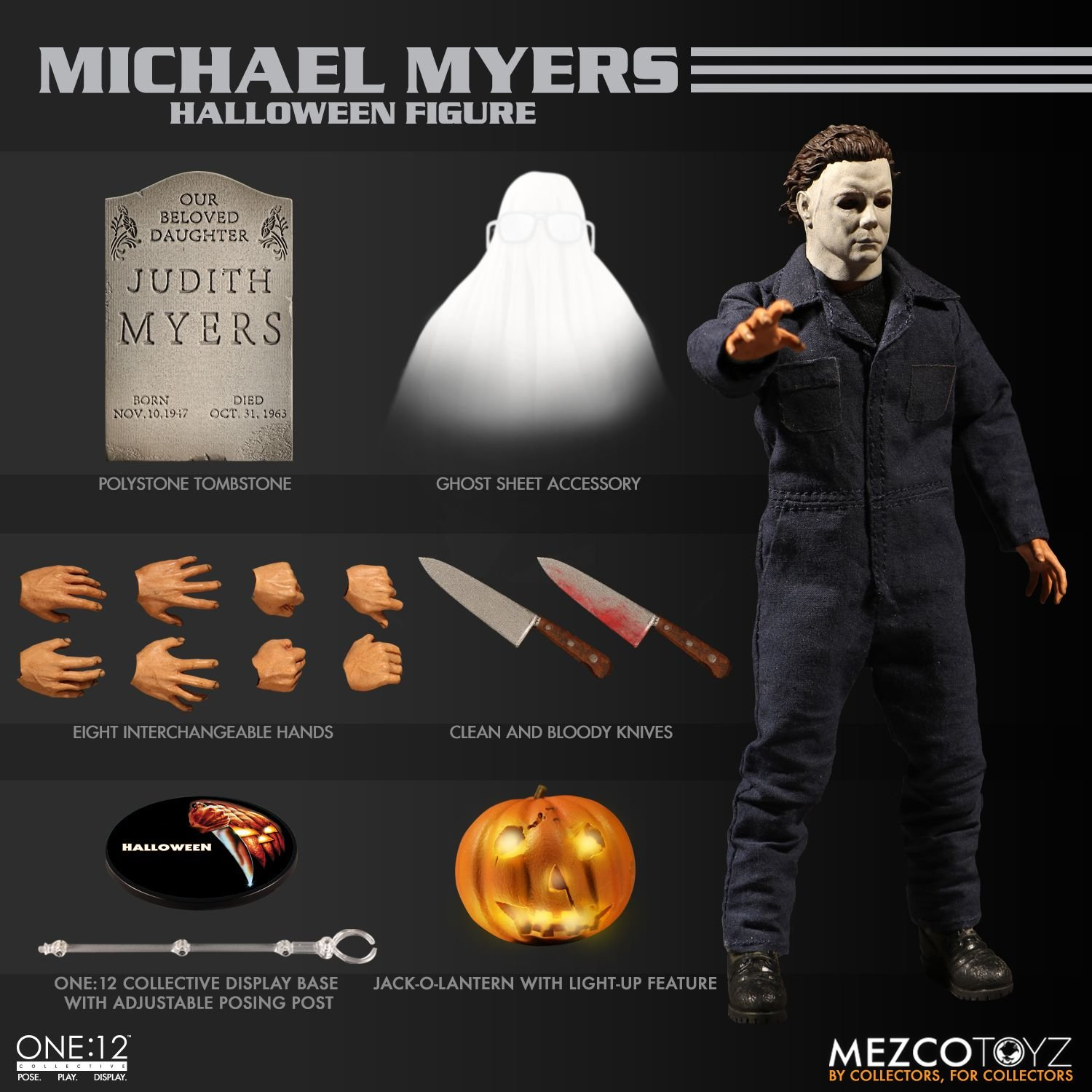 Halloween 2018 Michael Myers Knife.One 12 Collective Michael Myers